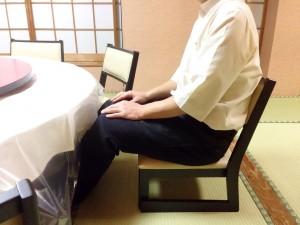 座椅子で宴会2